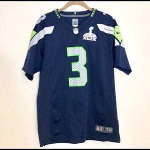 Seattle SeaHawks Russell Wilson Super Bowl Jersey